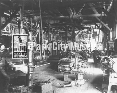 Machine shop at the Ontario #2, ca.1900s-1910s (Image: Digi-3-163, Jordanelle Special Service District Digital Collection)