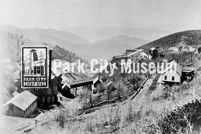 Silver King Coalition Mine complex including headframe, shaft house, mill, and boarding house, ca.1930s. (Image: 2000-8-1, Bob Sawyer Collection)