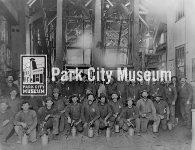 Men at the Ontario Mine, ca.1900 (Image: 1984-52-9, United Park City Mines Collection)