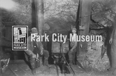 Miners work underground at the Anchor Mine, ca.1880s (Image: digi-6-27, Diane W. and Richard D. Arner Collection)