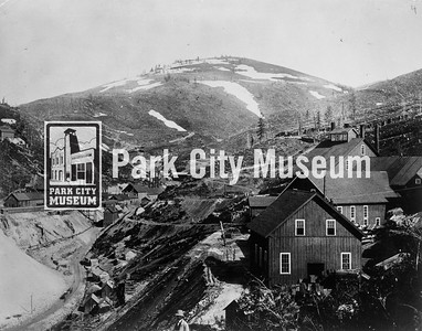 Ontario Mine buildings, ca.1890s. (Image: 1999-4-11, Park City Mountain Resort Collection)