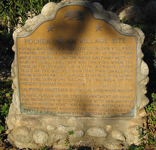 Plaque: Pochea Indian Village Site at Ramona Bowl.  CRHL  No. 104: 3 Feb 2007