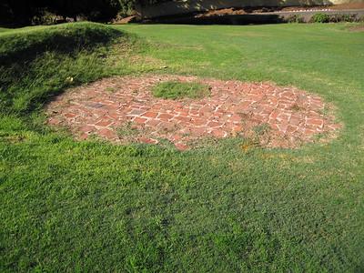 Patch of brick from the old Presidio. Presidio Park, San Diego, 24 Nov 2007