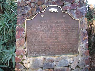 Plaque: Fort Stockton, Presidio Park, San Diego, CHRL No. 54. 24 Nov 2007