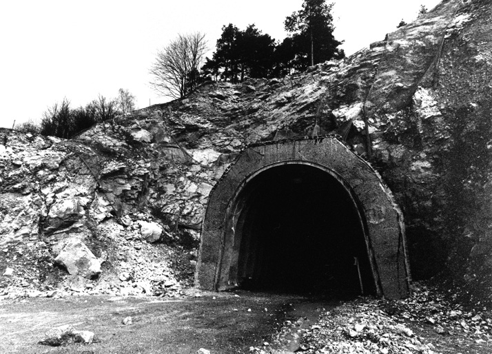Present entrance to the tunnels and chambers of the rocket factory