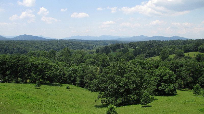 Although the estate grounds are now limited to around 4,00 acres much of the distant landscape visible to the south and east was all once owned by Vanderbilt...