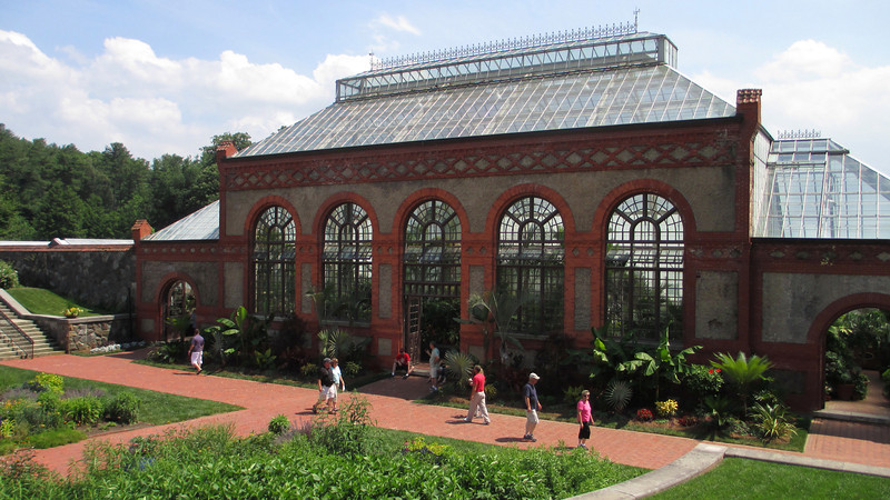 The Conservancy at the Estate housed Vanderbilts collection of hundreds of types of tropical and exotic plants...