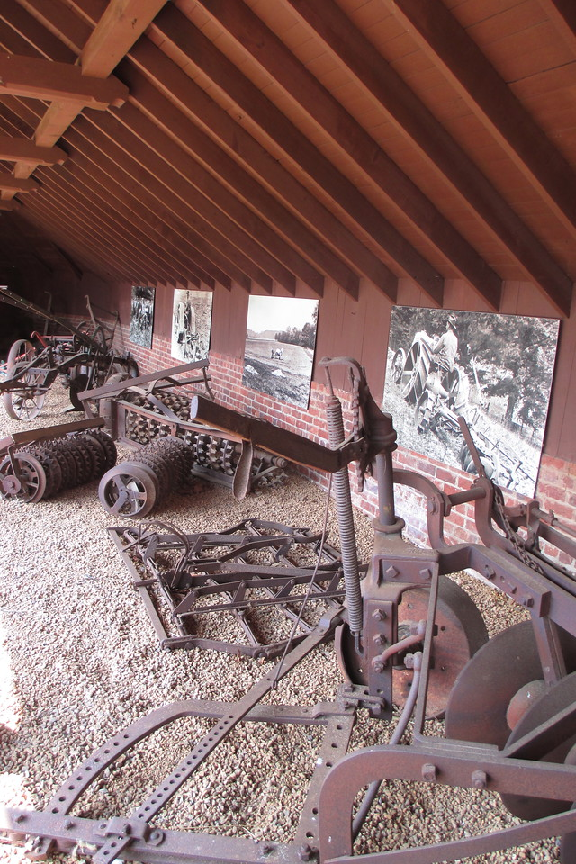 A nice display of antique farm equiptment at the Antler Hill barn...