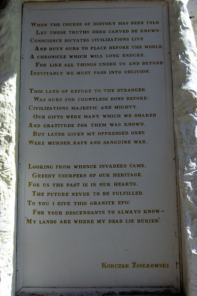 This poem will also be carved in the mountain...each letter will be three feet high!
