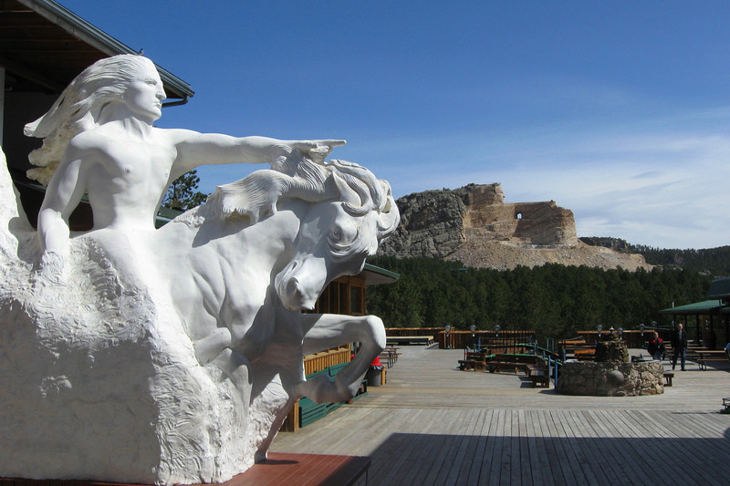 "The oft-used quote by Crazy Horse at this monument is, ""My lands are where my dead lie buried."""