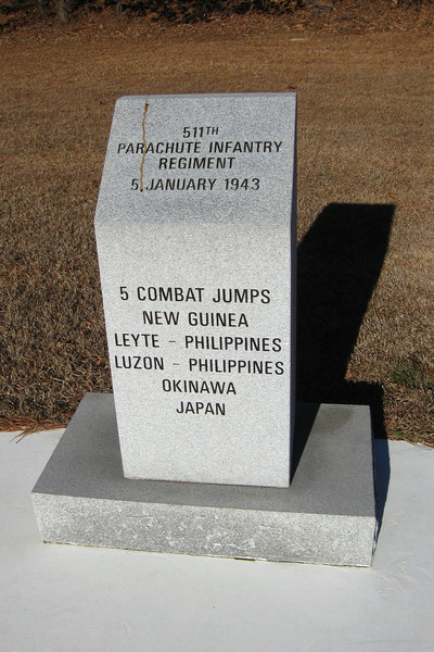 511th Parachute Infantry Regiment Monument...