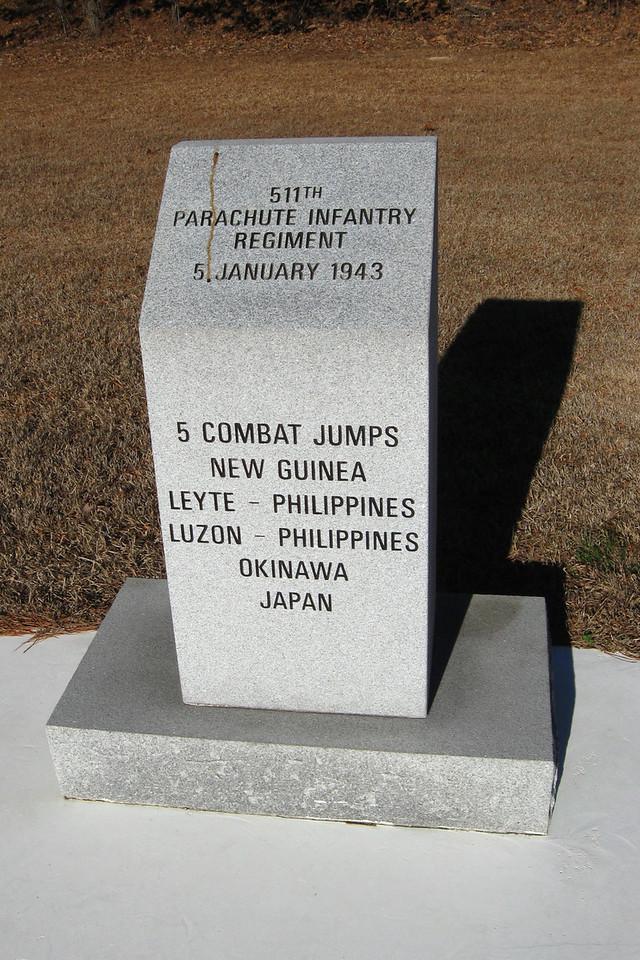 511th Parachute Infantry Regiment Monument...