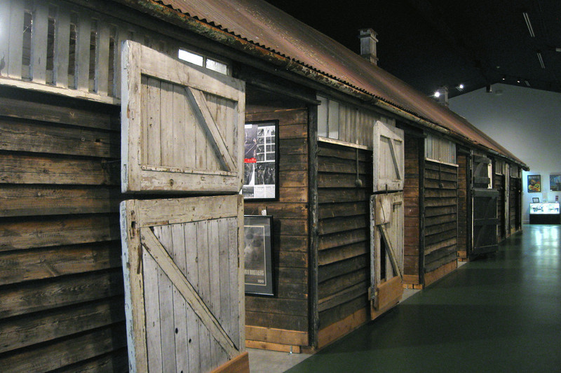"The centerpiece of the museum is the <i>Aldbourne Stable</i>.  Rediscovered on a farm in western England, the stable was deconstructed, transported, and then reassembled here in 2005.  It has been confirmed that a number of paratroopers from Toccoa were actually housed in this building during the war.  Most notably were David Webster and Denver ""Bull"" Randleman of Band of Brothers fame..."