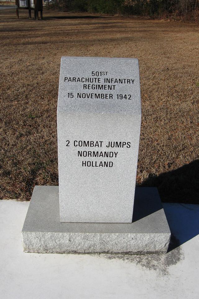 501st Parachute Infantry Regiment Monument...