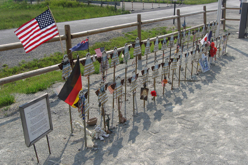 One flag for each of those people who gave their lives on Flight 93...