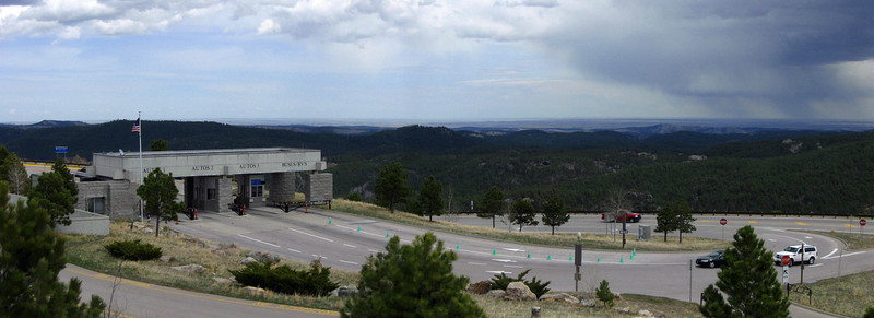 Entrance to the National Monument...looking south and east from the parking deck...