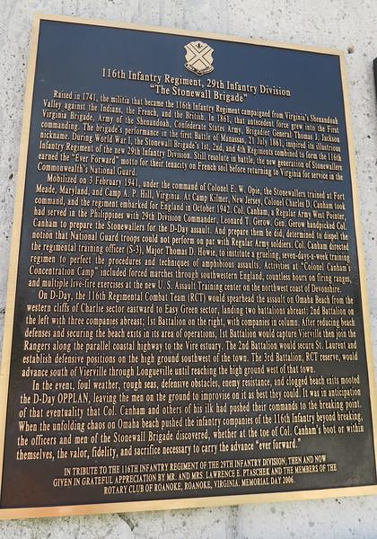 """Reynolds Garden - """"Stonewall Brigade"""" Plaque"""