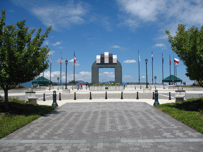 Victory Plaza - Commemorating the 12 Allied nations who participated in Operation Overlord.