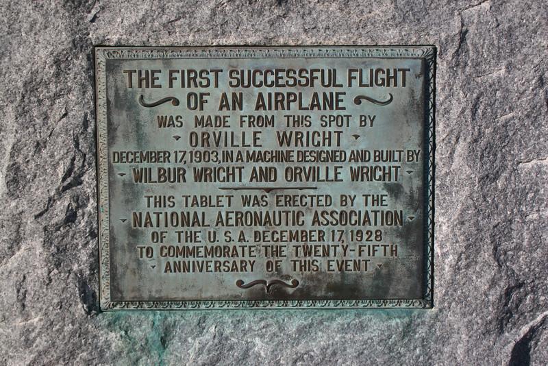 First Flight Memorial Stone