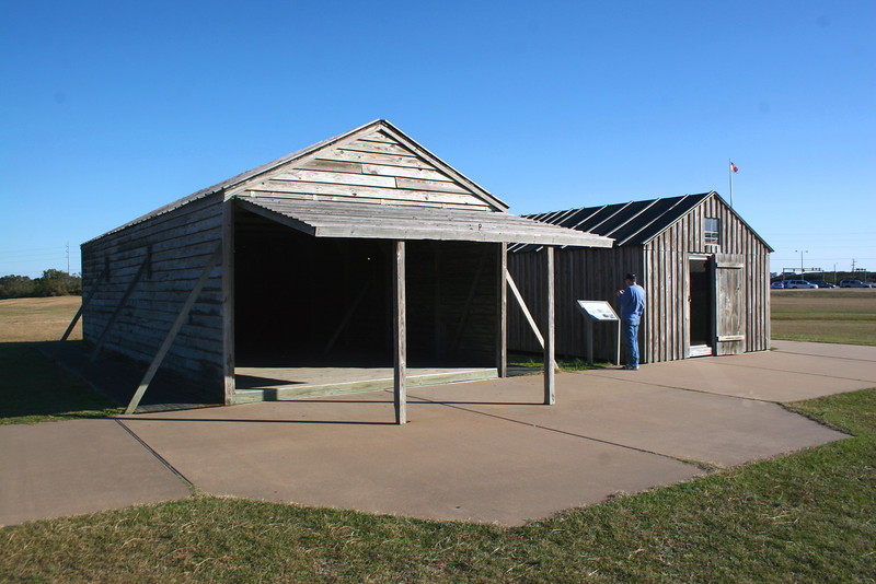The Wright Brothers assembled their plane in wooden sheds like these...