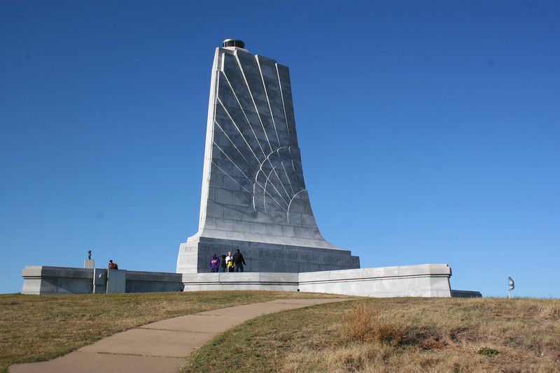 The Wright Brothers Monument...