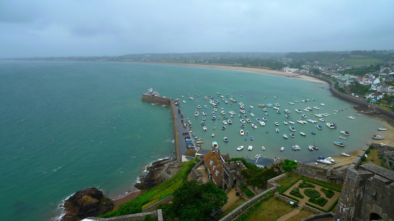 Gorey Pier from the top of the castle
