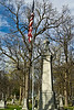 The Memorial for Civil War and Spanish-American War veterans.<br /> The Plaque reads<br /> In Memory of // the Soldiers and Sailors of // Washtenaw County // Who Served in the Civil War // 1861 - 1865 // Also Those Who Served in the War with Spain // 18l98 // Erected A.D. 1914<br /> <br /> <br /> Forest Hill Cemetery, Ann Arbor<br /> April 2, 2012<br /> (nex-5)