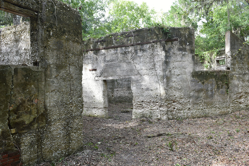 Morningstar Youth Estate Tabby Ruins after USCG Volunteers Cleanup of the Site 09-03-16