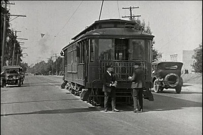1924, Girl Shy - Trolley Chase
