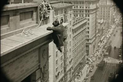 1923, Safety Last - Bolton Building Swinging