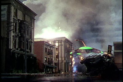 1953, War Of The Worlds - Downtown Attacked