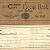 9. Part of the keepsake records collection is this old receipt book dating from May 25, 1939 to June 27, 1944. The following receipts are found:<br /> <br /> From John Hodson, May 25, 1939, 'for permanant found of Mt Tabor cemetery' $5.00, signed Mrs Florence M. Stuart<br /> <br /> From Dr. W.B. Lovingood, June 1, 1939, $1.00 for Mt Tabor Church Cemetery, signed Mrs. Stuart. [all the following are designated for the church cemetery unless otherwise noted, and signed by Mrs. Stuart.]<br /> <br /> From Mrs. Elmer Smith, June 2, 1939, 50 cents <br /> <br /> From Mart Stuart, June 3, 1939, ten cents <br /> <br /> From Will Smith, June 8, 1939 $1<br /> <br /> From Tip Lewis, June 8, 1939, $1<br /> <br /> From Minnie Lewis, June 15, 1939, $2<br /> <br /> From Jim Bolinger, June 21, 1939 $3<br /> <br /> From Harvey Webb, June 21, 1939 $2<br /> <br /> From Harrison Smith, June 22, 1939 50 cents<br /> <br /> From L. A. Sterling, June 28, 1939 $5<br /> <br /> From Stella Brown, July 5, 1939  $5<br /> <br /> From Andy Bolinger, June 30, 1939  $5<br /> <br /> From Horace Henry, July 7, 1939  $25, for permanent fund<br /> <br /> From J.E. McCulley, July 7, 1939, $25<br /> <br /> From Ruth Morton, July 12, 1939  $5<br /> <br /> From Mrs. Ben Cunningham, July 14, 1939   $25<br /> <br /> From Charley Anderson, July 17, 1939 $2.50<br /> <br /> From Charley Anderson, July 17, 1939 $2.50<br /> <br /> From       Lewis  May 1, 1939   $5<br /> <br /> From Sam Viars,   Feb 1, 1941  $3<br /> <br /> From L. C. Keasler, Feb  12, 1941  $5<br /> <br /> From Clarence Marshall, Oct 4, 1941   $5<br /> <br /> From Charley Green, Nov 23, 1941  $1<br /> <br /> From Charley Green, Nov 23, 1941  $1<br /> <br /> From Mrs. Sanford McReynolds, Dec 22, 1941  $10, for two graves<br /> <br /> From John Henry, Jan 16, 1942  $3  for one grave<br /> <br /> From John Henry, Jan 16, 1942  $3  for one grave<br /> <br /> From Nellie Brown, Jan 18, 1941  $1 for upkeep<br /> <br /> From Edgar Brown, Jan 14, 1942  $2