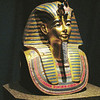 This funerary mask of King Tut was quite impressive.