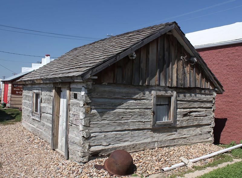 An exterior shot of the Flaigg cabin.