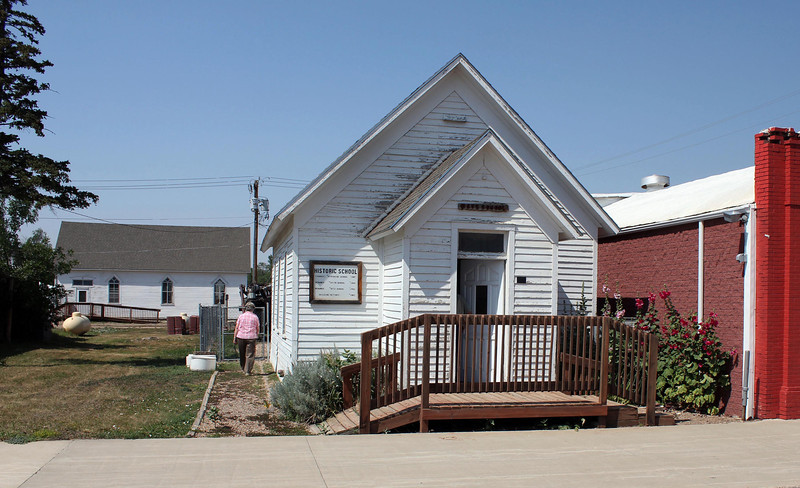 An old one-room school sits adjacent to the Newell Museum.  The school is a spendid example of education on the high plains.