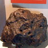 The Canyon Diablo Meteorite in the Canterbury Museum. At 485kg, this is the third largest known piece of the meteorite.