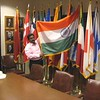 The Secretary of State's flag collection used for official events. Welcome to Texas Sanjay.