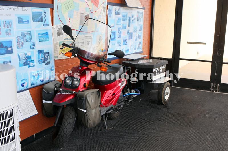 Yamaha Zuma with a trailer