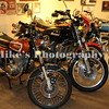 A nice collection Suzuki two stroke motorcycles with a GT185 left, and a GT 750 next