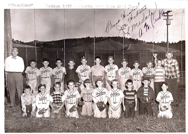 Ward 4 baseball team in 1952