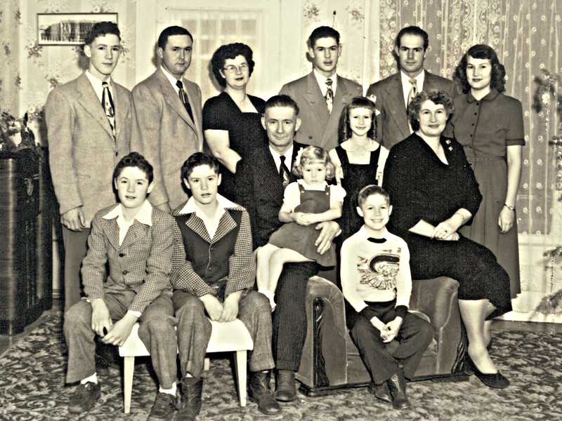 The Dick and Alice Jones family of Chadron - 1949