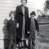 Naomi Wilson with sons Gilbert (left) and Larman - Circa 1937