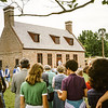 Dedication of Newbold-White House in 1981.