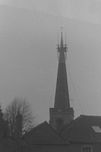A Scaffolding was erected to remove the Cock and Spire