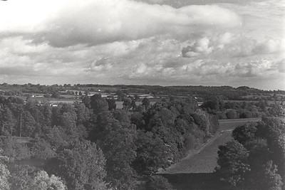 Newent Lake in the bottom left corner, White City just above in the trees and the Crofts open fields to the right.