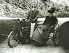 Robert H Bisco with his mother Mary Anne Bisco in the sidecar