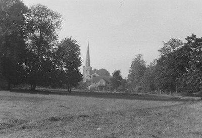 Looking from the Crofts towards St Marys Church, in the foreground is my Grandpas House The Kings Shoot.