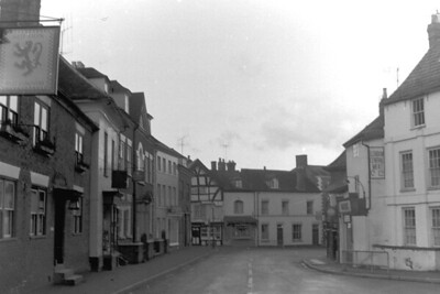 The Red Lion pub and the Chippy down the end on the left