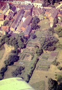 Back of Newent PO (our old house) and garden.  sad its all built on now.