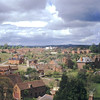1971 Looking towards the allotments from the Church tower before Library and Health center was built